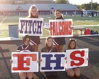 Fitch Cheerleaders Andrea Dockry, Cassandra Miller, Nikki Camens, Maggie Calhoun, Kayleigh Torres