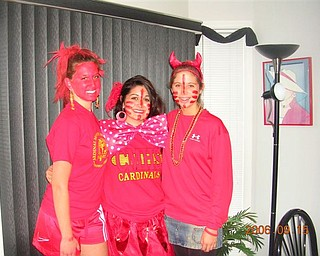 All RED was the theme for one Mooney Football Game!!!