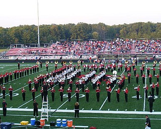 The Band in Pre-game of the Niles game