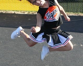 Jump For Joy - Scarlett Stevens, a Springfield Little Tigers Cheerleader, cheers her team on to victory!