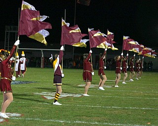 The South Range flagline shows off their school colors.