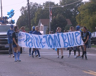 Jackson-Milton Sophomores in the homecoming parade on Oct 5th.  Painting the town blue with pride!