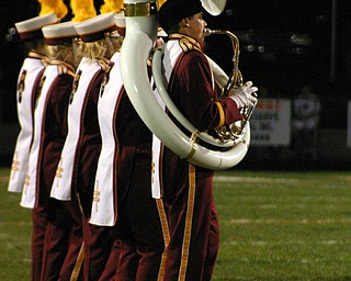 South Range band in formation.