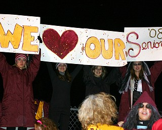 """It was Senior Night at South Range High and some of the fans show