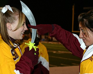 """Rachel Kelly and Christina Oddo getting ready for the start of the game??"""