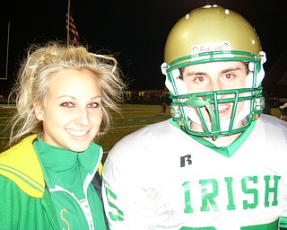 The Ursuline Irish advance to the state semi-finals with the help of Kicker Michael Metzinger and Cheerleader Katie Olenick smiling all the way to victory!
