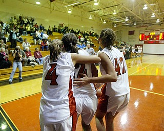 Canfield's Bryanne Halfhill scores 1,000 th point.