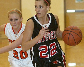 Canfield vs Howland girls basketball.