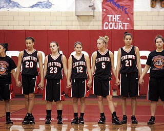 Struthers at Niles girls basketball.
