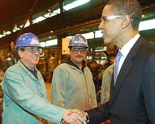 Sen. Barack Obama visits RTI in Niles.