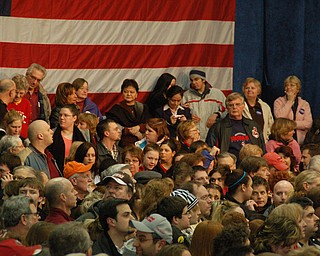 A portion of the crowd at Tuesday's rally for Clinton at Chaney in Youngstown