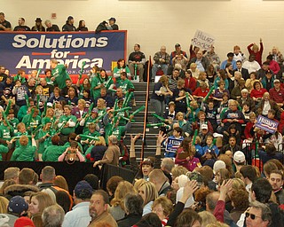 More than 1,000 people showed up for Clinton's rally Tuesday at Chaney