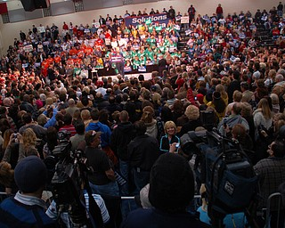 The crowd at Tuesday's Clinton rally at Chaney