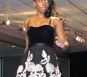 A Model at the Angels of Easter Seals Spring Fashion Show