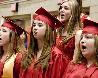"Struthers High School Show Choir belted out a little number about the significance of past relationships on future endeavors. The verse they are singing here, appears to be the one that goes, ""aaaaahh."""