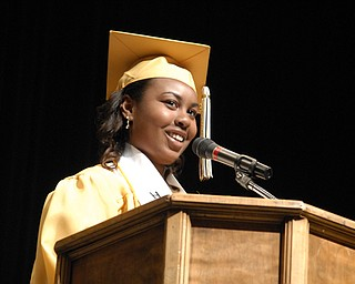 Class president Makia Brown opened with a welcome to graduates and their families.