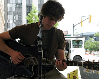 JD Eicher performs at Saturday's Streetscape