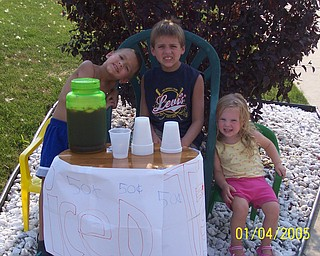 Entrepreneurs Alec, Ivan & Ava Bosnjak put their water fun into cold drinks. They're children of Andrea Bosnjak of Boardman.