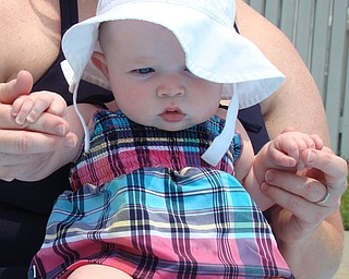 Kennedy Henderson, 4 months, at  Poland Swim Club on July 6. Parents are Todd and Jacey Henderson of Poland