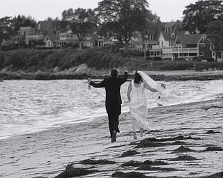 Me and mine (Brian and Nicole Roberts) enjoying the summer by the water in Niantic, CT (taking wedding photos).