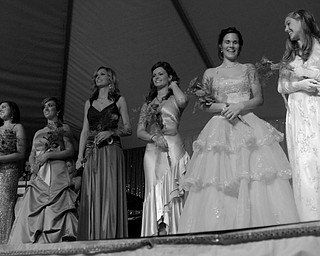 Contestants at the Italian Queen pageant at the Downtown Italian Festival in Youngstown on Friday, August 1, 2008. Daniel C. Britt.