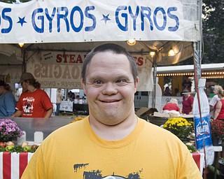 Jared Sandy of Johnson smiles for the camera at the Warren Italian Festival Thursday, August 7, 2008. Daniel C. Britt.