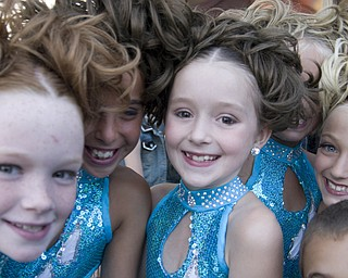 Several 8-year-old girls donned make-up and sequins to perform a dance routine at the Warren Italian Festival Thursday, August 7, 2008. Daniel C. Britt.