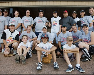 08.09.2008 Team Pavlik vs. Team Media charity softball game at Cene Field in Struthers to benefit the United Way.