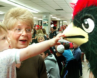 Becca Wagner Canfield 2008 Big Red Mascot.