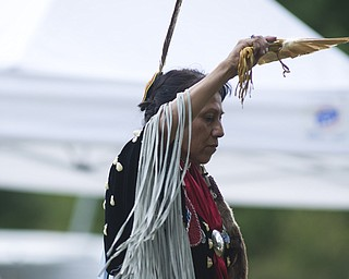 Suzanne Tewawina performed a dance honoring traditional Native American women.
