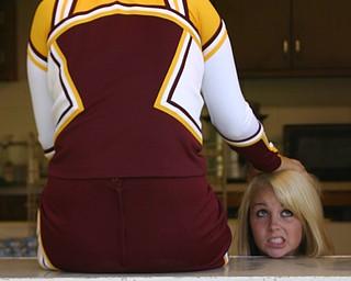 """Senior cheerleader Melissa Williams lost her head...it's time for football!!"""