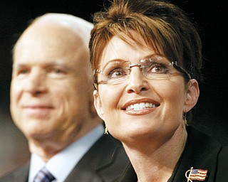 GOP TICKET: Presumptive Republican presidential nominee Sen. John McCain smiles after introducing his running mate, Alaska Gov. Sarah Palin, in Dayton.