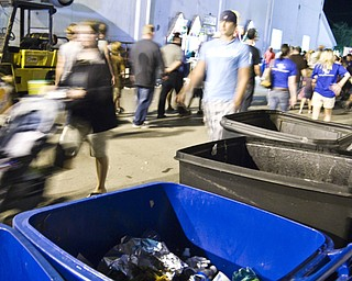 Recycle bins used as garbage cans at the Canfield Fair. Daniel C. Britt.