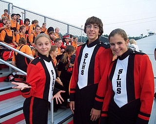 Olivia, Anthony, and Ursula Buzzacco of the Springfield Local Marching Band are having a blast at the Youngstown Christian Game.  The trio can't wait to preform their half-time show because they are a part of a rockin' band!!!