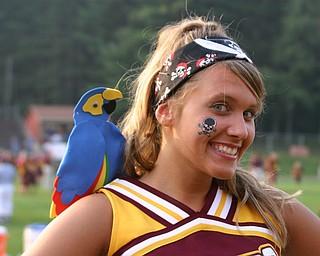 """Senior Cheerleader Katie Bush is ready for ""Dress like a Raider Night!"""