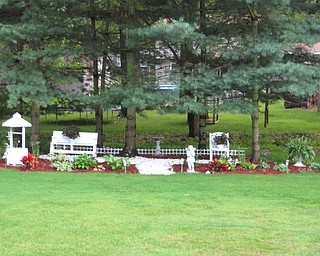 """""""This is my garden I made after I retired, last year. It is my Peace Garden."""" -- Cathy Hodge"""