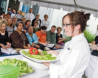 HELPFUL HINTS: Chef Gordy Lettieri of Super Suppers in the Creekside Plaza in Boardman teaches about garnishes during Chefs' Secrets cooking show.
