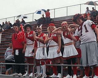Girard Indian fans cheering on their team Patrick Rhodes, Aaron Macklin, Ryan Trimbur, Nate Sell, Dan Gainey, Ron Rhodes