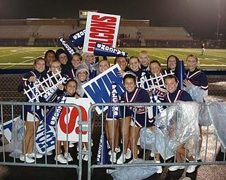 Rain Rain Go Away! The Fitch Cheerleaders don't let a little rain ruin their SPIRIT!!!