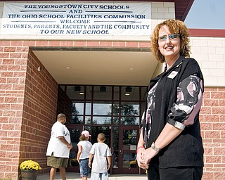 Principal Cathy Dorvish welcomed the neighborhood into the New MLK elementary school Sunday, September 21, 2008.