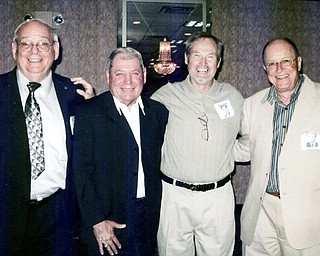 """50 YEARS ON: Nick Gentile, Ben Bruno, Jerry Lucas and Tom McIntire, nicknamed the """"Four Spacemen,"""" helped the 1957 truthers High football team to score a school-record 402 points and compile a 9-1 record. They celebrated their legacy recently at their 1958 class reunion."""