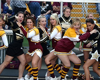 """South Range Cheerleaders and Crestview Cheerleaders play friendly