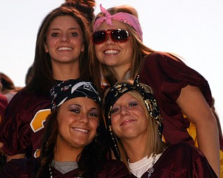 """South Range sophomores, Kenzie Pifer, Chelsie Willison, Sam Smith,