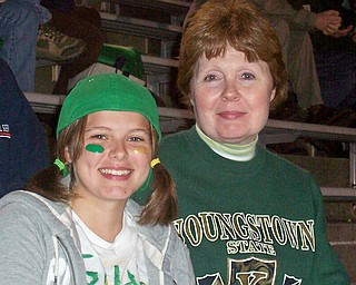 Mary Kate Stevens (Future Class of '13) enjoying the night out at the game with her Grandma Mercia Stevens.