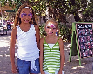 Alyssa, 9, and Tara, 6, daughters of Amy and Nick Santoro of Canfield, enjoyed a weekend getaway to Cedar Point with the family.