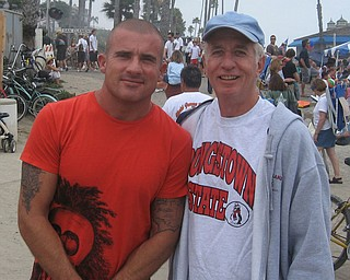 Gary Orosz of Canfield got to meet Dominic Purcell (Prison Break) while at San Clementa Pier Festival.
