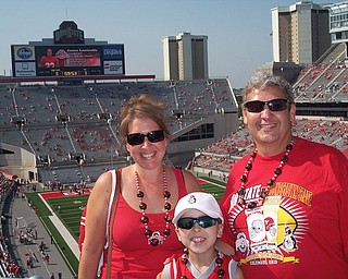 John, Debbie & Robert Fay at OSU stadium for OSU/YSU football game in Columbus!