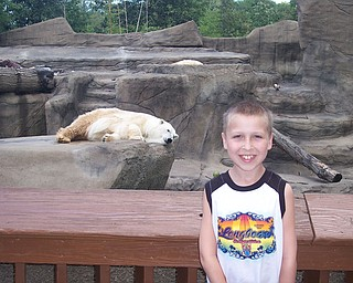 Robert Fay at Cleveland Zoo at the Polar Bear Exhibit.