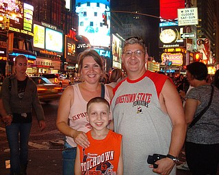 John, Debbie & Robert Fay in New York City -Time's Square - 1 am!  