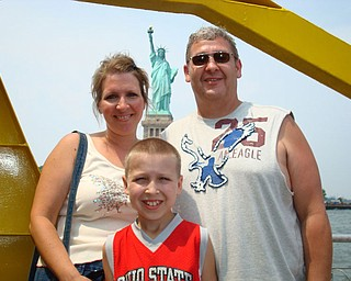 John, Debbie & Robert Fay in New York City -Battery Park - Statue of Liberty behind us